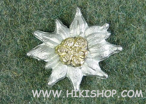 German WWII EDELWEISS INSIGNIA FOR VISOR CAPS