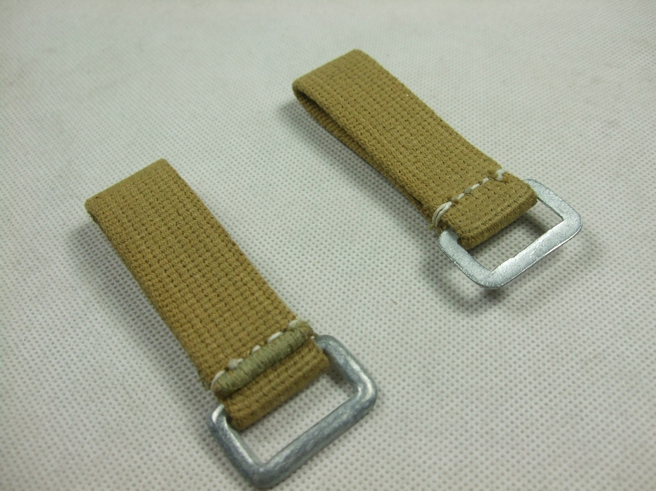 WW2 German Soldier DAK EM Y-Straps Webbing D-ring X2