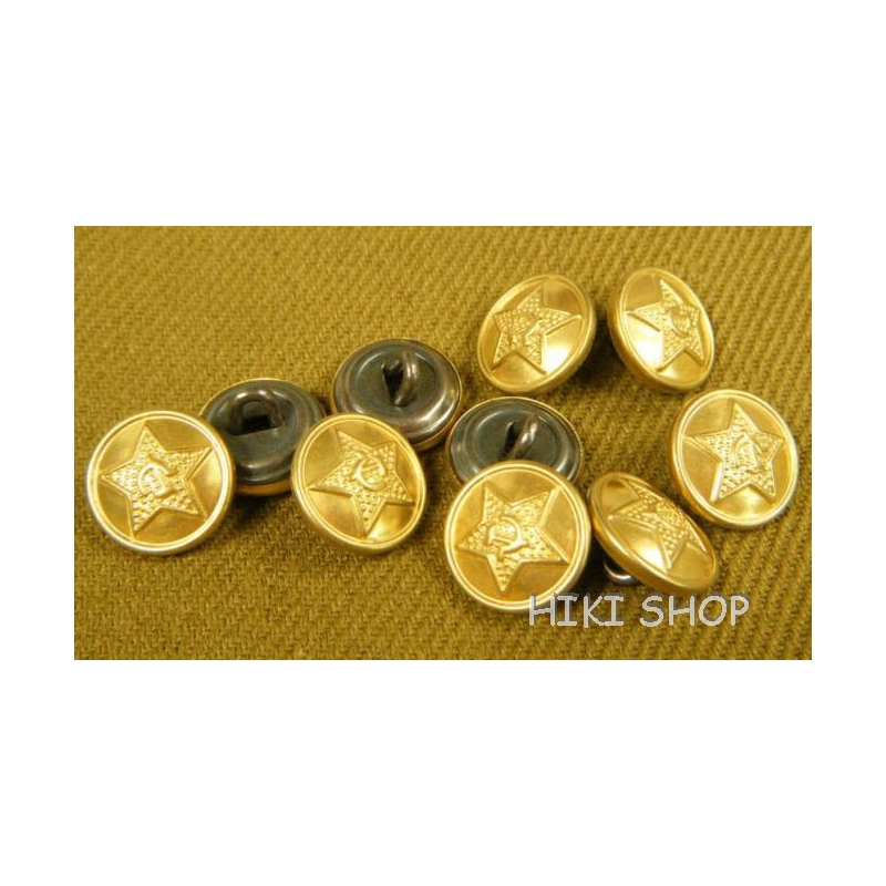 WW2 Soviet red army Brass 14mm Buttons Repro X 10 Reproduction