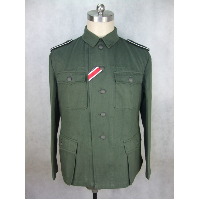 WWII German Elite EM Soldier HBT M42 Field Tunic Jacket
