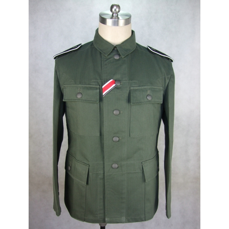 WWII German Elite EM Soldier HBT M43 Field Tunic Jacket