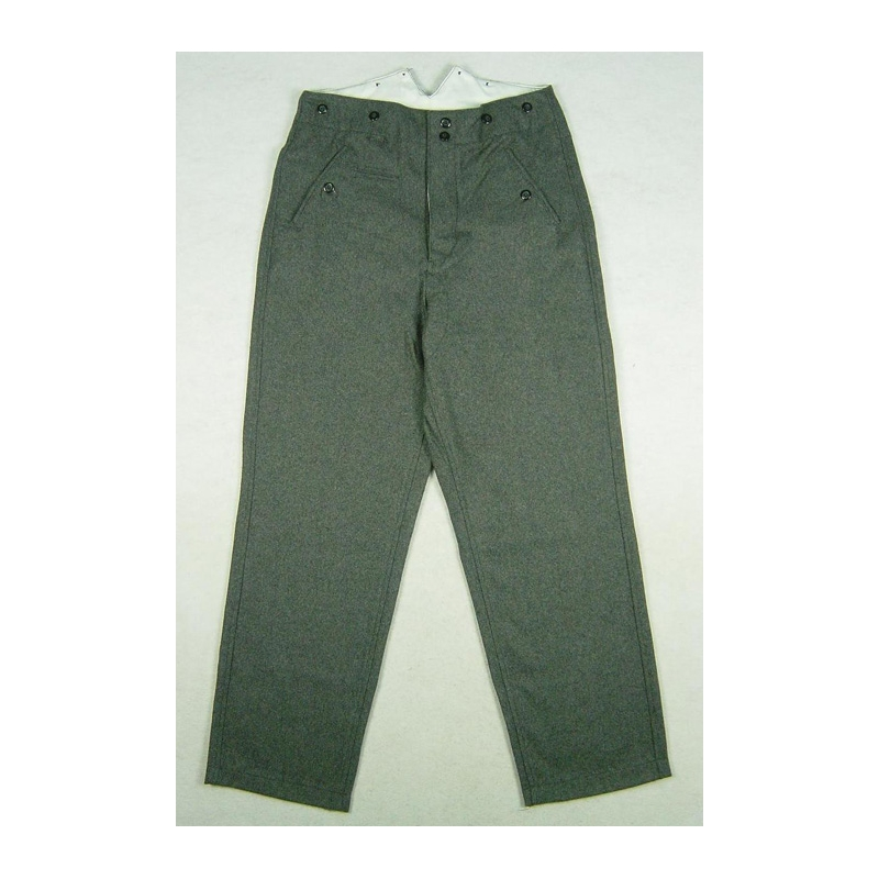 WW2 German Stone Grey Wool M37 Trousers Pants