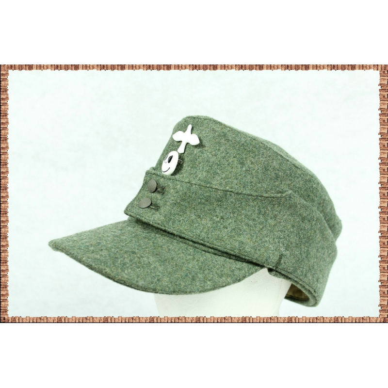 WWII German Wehrmacht WH M43 Field Grey Field Cap EM TOP WOOL